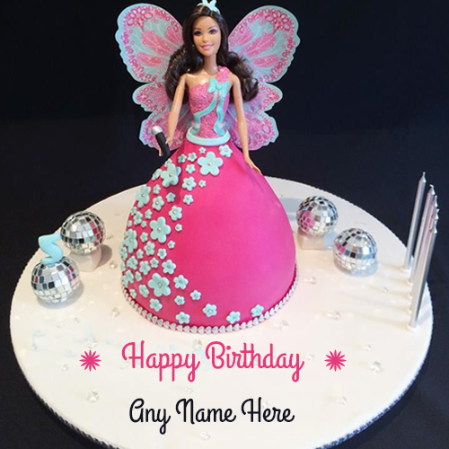 Barbie Doll Cake For Little Princess Birthday Wishes